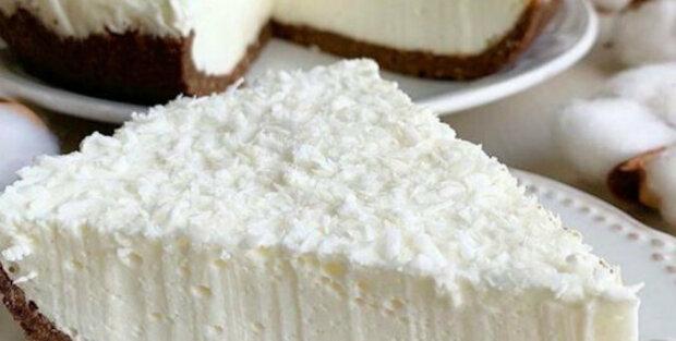 Tvarohový koláč bez pečení. Můžete jíst i v noci