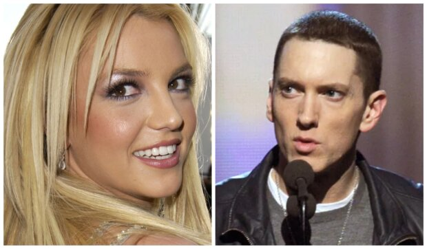 Britney Spears a Eminem. Foto: snímek obrazovky YouTube