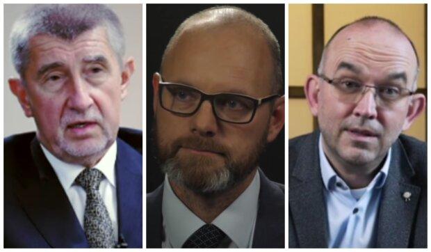 Andrej Babiš, Robert Plaga a Jan Blatný. Foto: snímek obrazovky YouTube