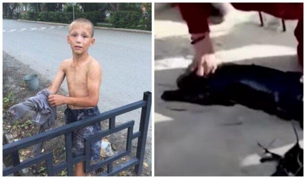 Dvanáctiletý chlapec zachránil malé štěně. Foto: snímek obrazovky laykni.com