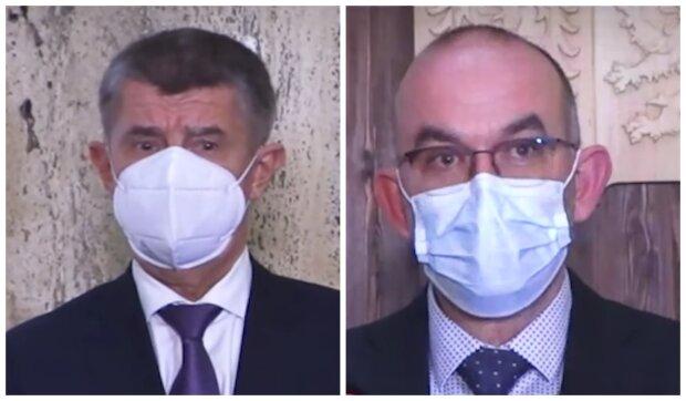 Jan Blatný a Andrej Babiš. Foto: snímek obrazovky YouTube