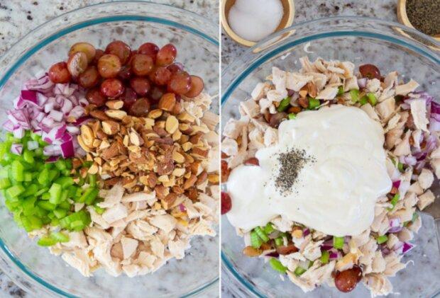Jednoduchý kuřecí salát s hrozny: Hosty budou určitě překvapení. Bude to divné, pokud se nebude líbít