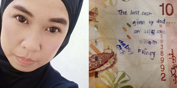 Dívka našla bankovku s nápisem a umístila inzerát na síť: co řekla majitelka bankovky