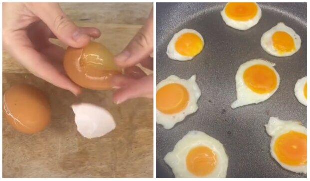 Neobvyklá míchaná vejce. Foto: snímek obrazovky TikTok