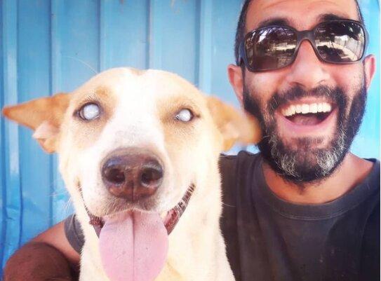 Osud psa se speciálními potřebami: jak se z dobrovolníka v útulku a slepého psa stali přátelé