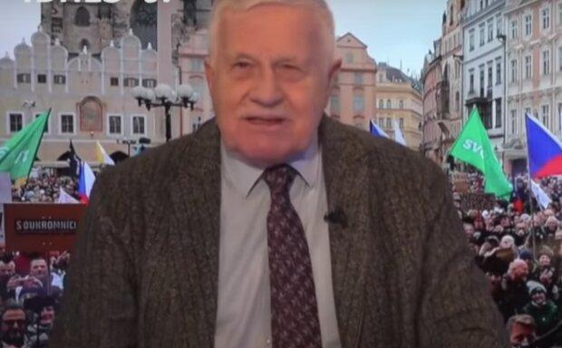 Václav Klaus. Foto: snímek obrazovky YouTube