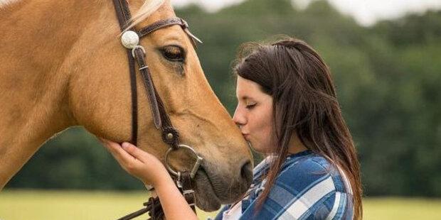 Dívka se rozhodla zkontrolovat, co se stane, pokud začne plakat vedle koně