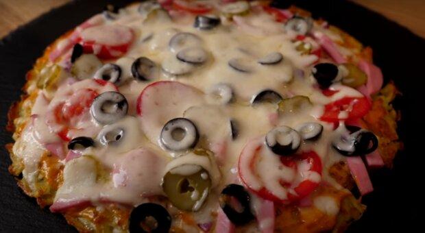 Pizza bez těsta. Foto: snímek obrazovky YouTube