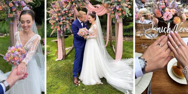 Šťastná svatba Jiřího krále a Karolíny Benešové: proč se pár dva měsíce po zásnubách oženil