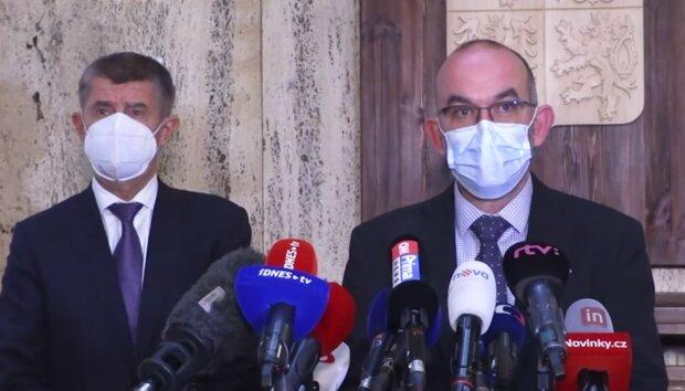 Andrej Babiš a Jan Blatný. Foto: snímek obrazovky Youtube