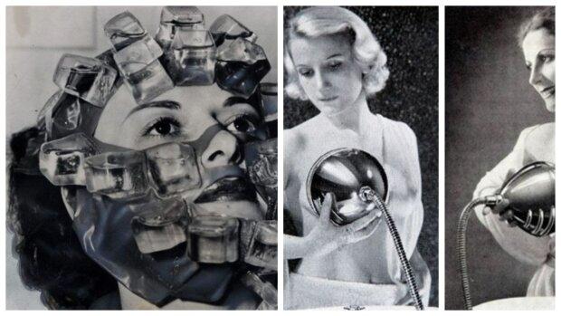 Ledová maska, mytí prsou a další absurdní kosmetické pomůcky, které využívaly ženy v minulosti, aby vypadaly lépe