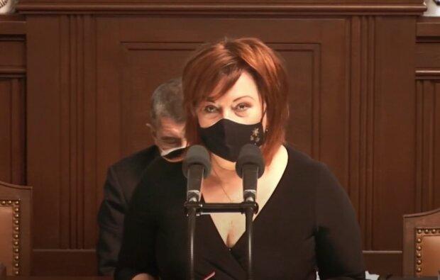 Alena Schillerová. Foto: snímek obrazovky YouTube