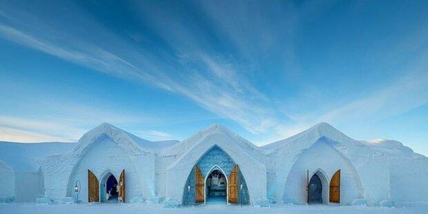 """""""Ledové království"""": jak vypadá hotel z ledu s barem a svatební místností"""