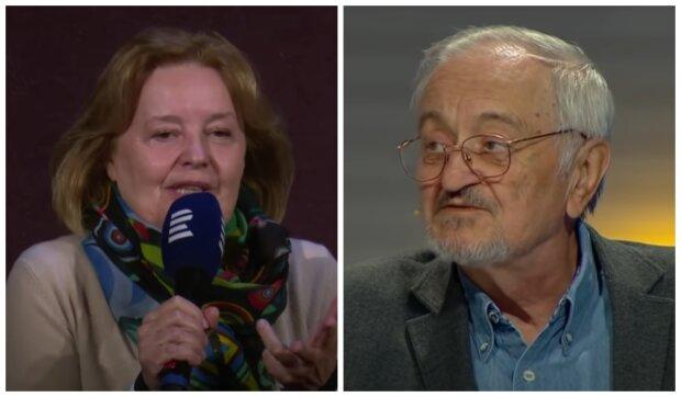 Magda Vášáryová a Milan Lasica. Foto: snímek obrazovky YouTube