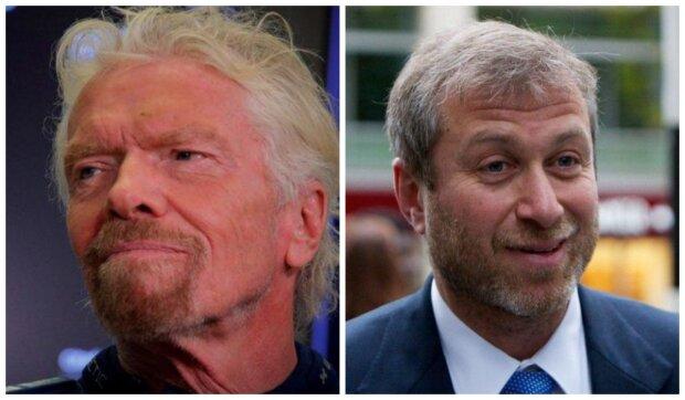 Miliardář Branson a miliardář Abramovič. Foto: snímek obrazovky YouTube