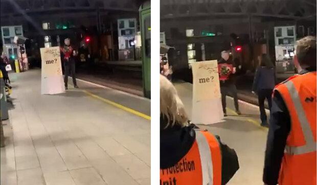 V Irsku muž požádal o ruku svou přítelkyni strojvedoucí, když ona přijela na nástupiště nádraží