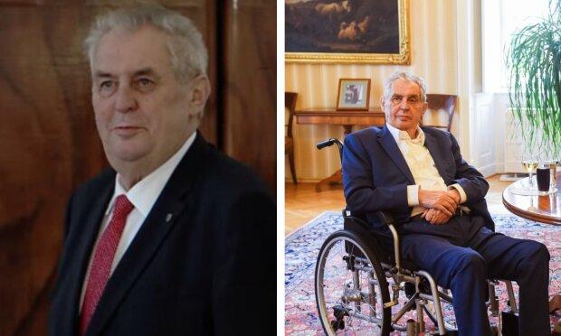 Prezident a první foto po propuštění z nemocnice: Miloš Zeman ukázal, jak doplňuje tekutiny