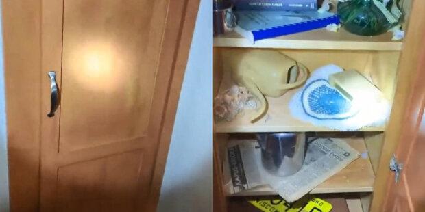Žena našla tajné chodbuza skříní a křičela, když viděla, co se tam nachází