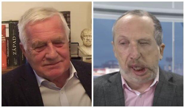 Václav Klaus a syn. Foto: snímek obrazovky YouTube