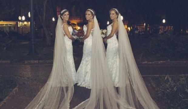 Těžko odlišit: trojčatá, která se rozhodla současně provdat