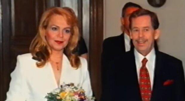 Dagmar Veškrnová a Václav Havel. Foto: snímek obrazovky YouTube