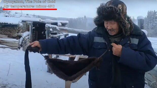 """Britští novináři byli překvapeni, že v zimě na Sibiři nosí krávy """"podprsenky"""": ukazovaly obrázky a natáčely, jak je zvířatům zima"""