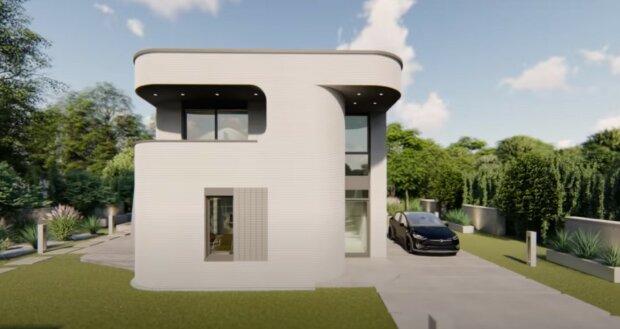 Zaoblený a stylový: jak vypadají domy vytištěné na 3D tiskárně