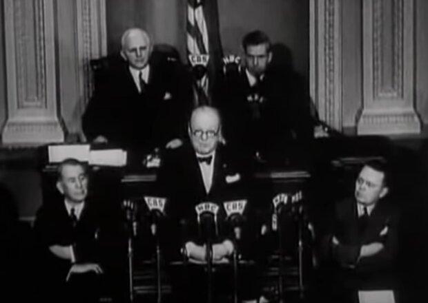 Winston Churchill. Foto: snímek obrazovky YouTube