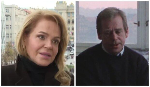 Dagmar Havlová a Václav Havel. Foto: snímek obrazovky YouTube