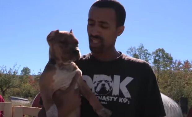 Pes a muž. Foto: snímek obrazovky YouTube