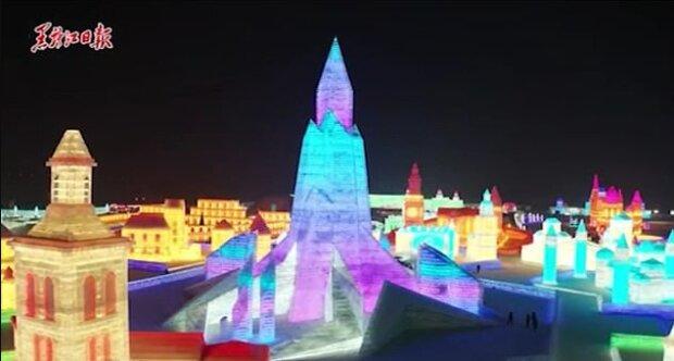 """""""Ledové království"""": ledové město na ploše 600 tisíc metrů čtverečních vypadá jako skutečná pohádka"""